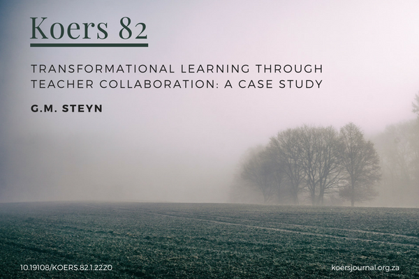 Image_Transformational Learning Through Teacher Collaboration: a Case Study