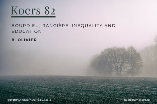 Bourdieu, Rancière, Inequality and Education